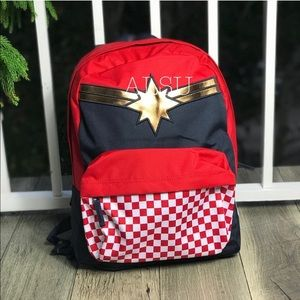 VANS&Marvel Captain Backpack Racing Red AUTHENTIC